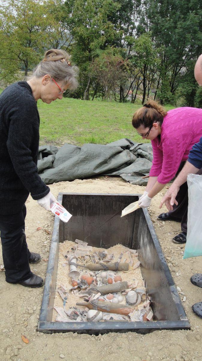 Vorbereitung Grubenbrand Otakar Sliva