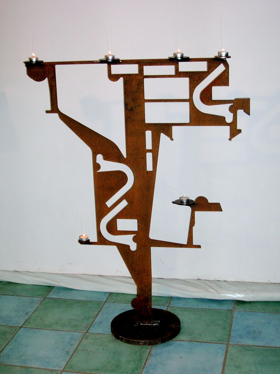 Kerzenständer Metall Skulptur ,kreatives Schweissen